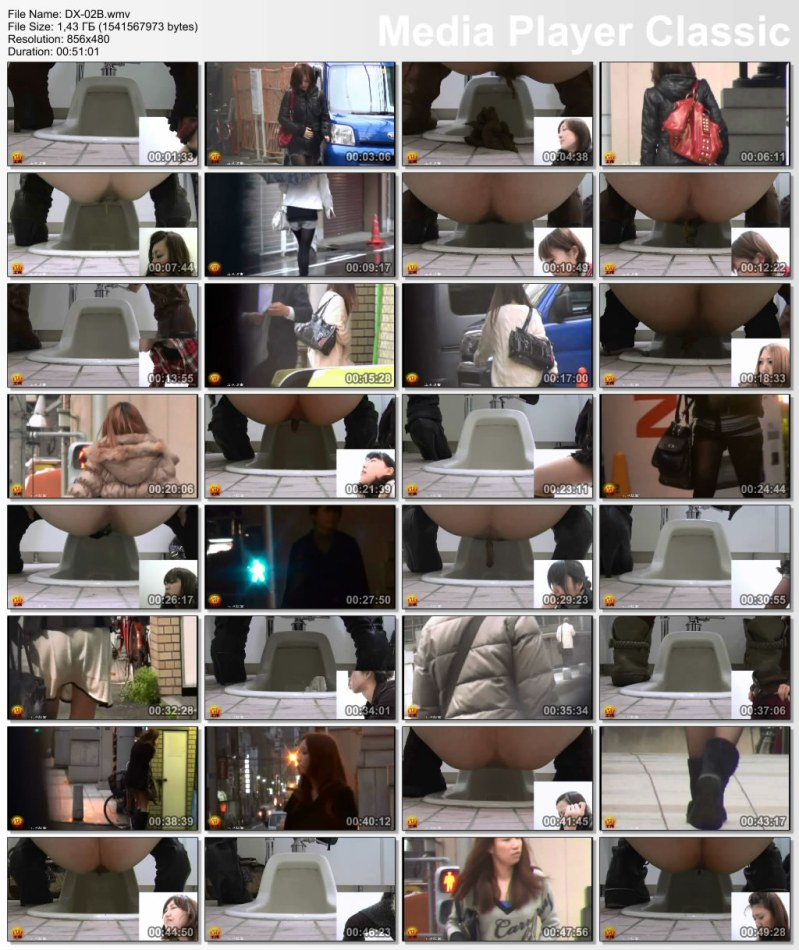 [DX-02] 脱糞盗撮市内中心部に排便ピープ女性のトイレ、。